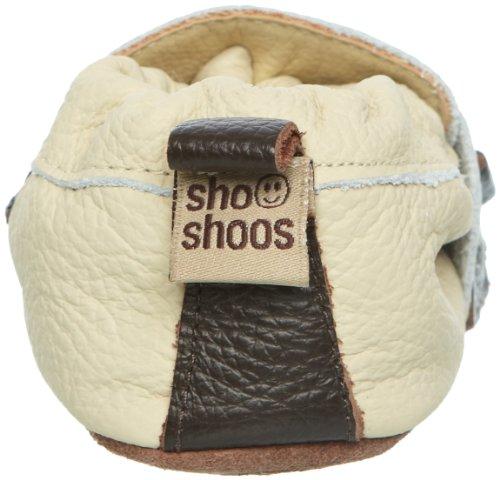 ShooShoos Wrap, chaussures layette garçon Marron - Beige/Brown