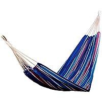 HAMACA para Colgar 210x150 cm COLOR Azul para 2 PERSONAS para Playa Piscina Jardin Camping 70% Algodon