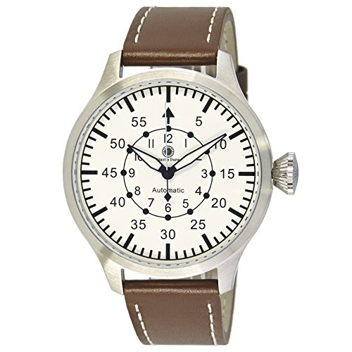 Constantin Durmont Gents Watch XL Analogue Automatic Leather Raider CD Raid-At-Lt-WH-STST