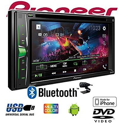 Autoradio-Radio-Pioneer-AVH-A200BT-2-DIN-Bluetooth-CDDVD-MP3-USB-Einbauzubehr-Einbauset-fr-VW-Fox-JUST-SOUND-best-choice-for-caraudio