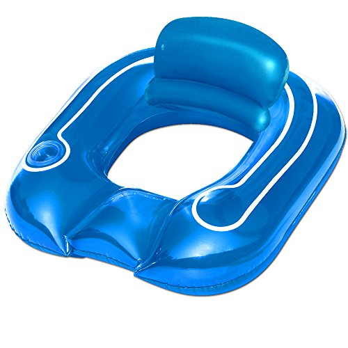Bestway Flip-Pillow Lounge in blue - Cup holder - inflatable chair swimming pool