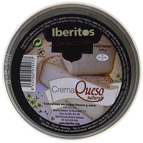 Iberitos Crema Queso Fundido - Paquete de 10 x 140 gr - Total: 1400 gr