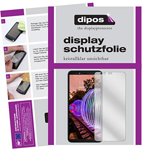 dipos I 2X Schutzfolie klar passend für JVC J20 Folie Bildschirmschutzfolie
