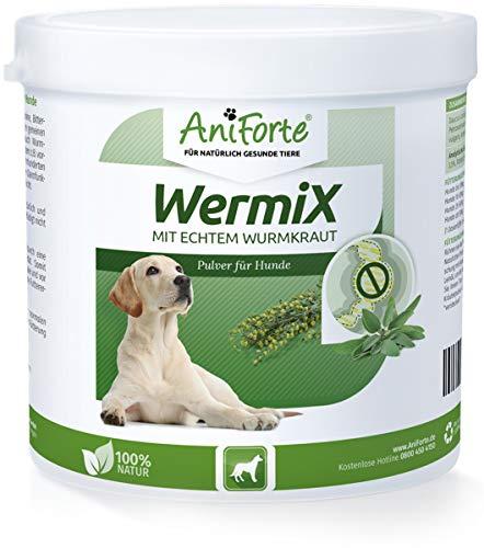 AniForte WermiX Pulver 250g für Hunde – Natürlicher Wurmfeind, Naturprodukt Bei und Nach Wurmbefall