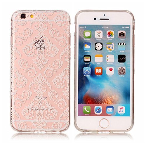 Pheant® Apple iPhone 6S/6 (4.7 pouces) Coque Gel Transparent Cas en TPU Soulple Silicone Couleur-01