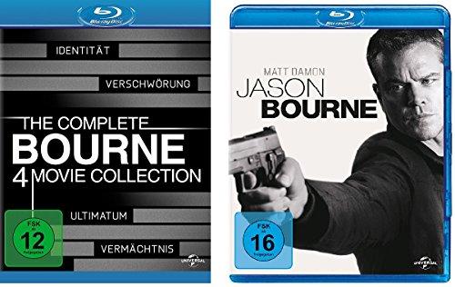Bourne 1-5 (Bourne Collection Box 1-4 + Jason Bourne) im Set - Deutsche Originalware [5 Blu-rays] (Ultimatum Bourne Das Blu-ray)