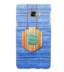 YuBingo Samsung Galaxy C7 SM-C7000 Designer Phone Back Case Cover ( Stylish Letter S (Wood Finish Plastic) )