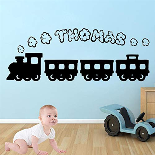 Wandtattoo Kinderzimmer Karikatur-Zug Thomas personalisierter Rauch-Name S für Kinderzimmer scherzt Schlafzimmer (Thomas Der Zug-bild)