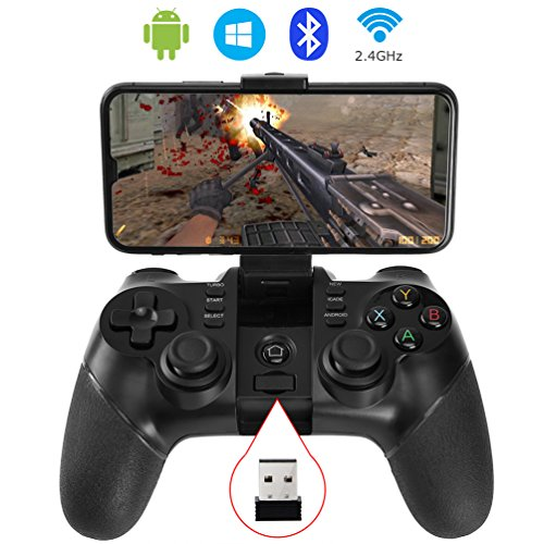 Price comparison product image allcaca Bluetooth Game Controller Wireless Gamepad Rechargeable Phone Controller,  Compatible with Android Phone,  Tablet,  TV,  TV Box