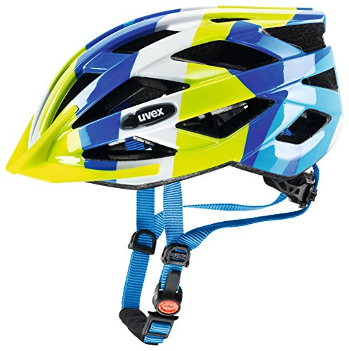 Uvex Kinder Air Wing Fahrradhelm blue green 52-57 cm