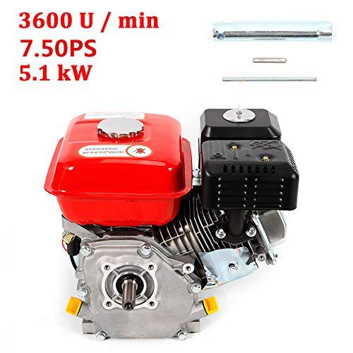 OUKANING Motore a benzina a 4 tempi, retromarcia/motore elettrico start, 7,5 CV, motore indust