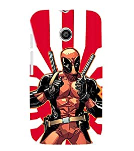 EPICCASE iron man with gun Mobile Back Case Cover For Moto E (Designer Case)