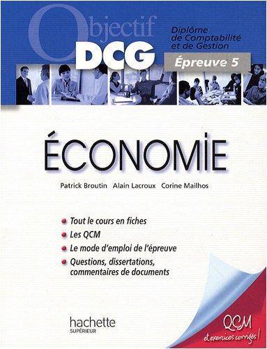 Objectif Dcg Economie