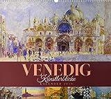 Venedig - Künstlerblicke 2019, Wandkalender im Querformat (54x48 cm) - Kunstkalender / Städtekalender (Impressionismus) mit Monatskalendarium
