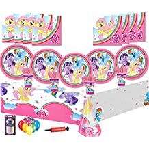 My Little Pony Party Supplies Fiesta de cumpleaños Decoraciones para vajilla 16 Guest Pack -Platos