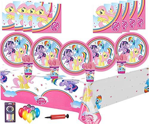 rty Supplies Geburtstag Party Geschirr Dekorationen 16 Guest Pack -Platten, Tassen, Servietten, Tischdecken Kostenlose Ballons ()