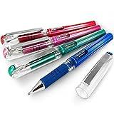 Pentel Hybrid Gel Grip Metallic Pen–1.0mm Tintenroller–Blau, Grün, Pink und Rot–Pack von 4–K230