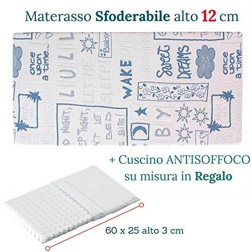 Materasso Antisoffoco Su Misura.Evergreenweb Materasso Per Bambini 70x160 Alto 12cm Lettino O