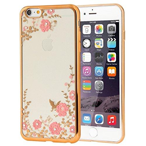 YAN Für iPhone 6 Plus / 6s Plus, Blumen Muster Galvanisieren Soft TPU Schutzhülle Fall ( SKU : IP6P0010B ) IP6P0010A