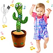 """Rechargeable Dancing Cactus Toy, BLUELAND Talking toys, Shaking, Recording, Singing Song, """"Repeat your sp"""