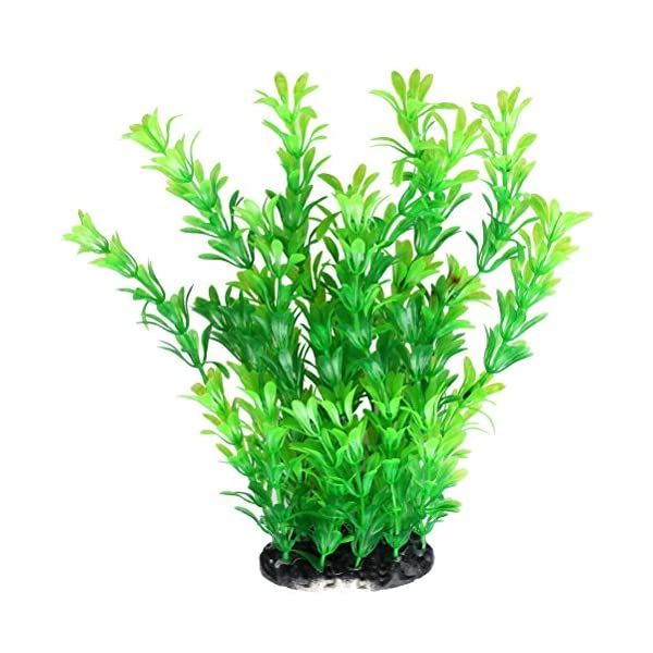 kuou Aquarium Plants, Fish Tank Artificial Green Plastic Plants For Decorations 25cm/10Inch