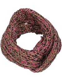 Tara Chunky Multi Color Knit Snood Womens Scarf Ladies Celebrity Scarf