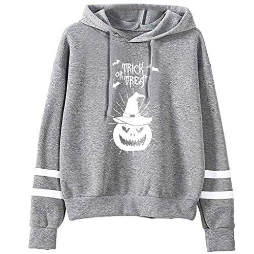 Trisee Damen Halloween Sweatshirt 3D Skull Gedruckt Oberteil Tops Hoodies mit Kordelzug Kapuzenpullover Langarmshirts Große Größen Baseball Mäntel - Schürze Tankini