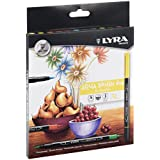 Lyra Aqua Brush Duo - Estuche 12 rotuladores artísticos de colores