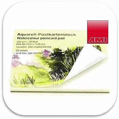 20 Blatt Aquarell-Postkartenblock DIN A6 / Postkarten selbst gestalten von AMI bei TapetenShop