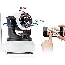 Mtek IP Cámara HD 720P 1,0 Megapixeles WiFi P2P Vigila Bebe con Micrófono Altavoz y Visión Nocturna Detección de Movimiento HD 1280 x 720P.