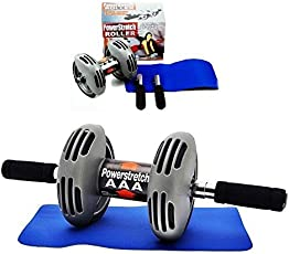 Amity impex Powerstretch AB Wheel Roller, Exercise Fitness Slim Body Roller, Total Body Exerciser.