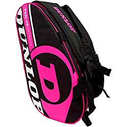 Paletero de pádel Dunlop Tour Intro Negro / Rosa Flúor