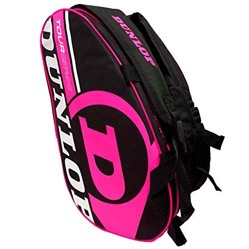 Dunlop - Borsa porta racchetta mod. Tour Intro, colore: nero / rosa fluorescente