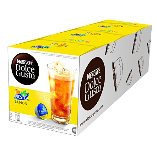 Choose Nescafe Dolce Gusto Nestea Lemon Coffee, Pack of 3 (Total 48 Capsules, 48 servings) - Nestle UK