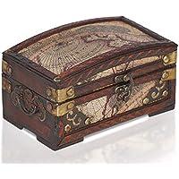 Brynnberg - Caja de Madera Cofre del Tesoro Pirata de Estilo Vintage, Hecha a Mano, Diseño Retro 17x10x10cm - Muebles de Dormitorio precios