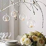 8PCS/12PCS 80 mm appendere portacandele in vetro globi terrario wedding portacandele candeliere, Vetro, transparent