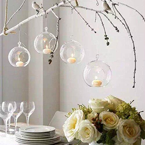 Kreative Haus Hängende Glasball Romantische Kerzenständer Hochzeit Geburtstag Fest Deko (12Pcs/set)