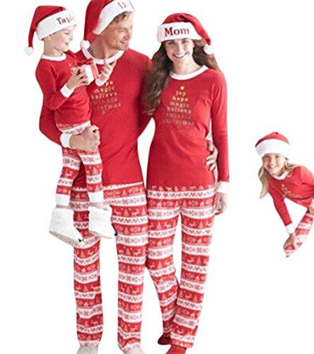 Weihnachten Erwachsene Sweatshirt (YaoDgFa Ugly Weihnachten Pyjama Schlafanzug Familie Weihnachts Xmas Weihnachtspyjama Nachtwäsche Hausanzug Sleepwear Sweater Set Damen Herren Kinder Mädchen Jungen)