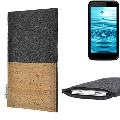 flat.design vegane Handy Hülle Evora für Energizer H500S Kartenfach Kork Schutz Tasche handgemacht fair vegan