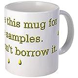 CafePress Funny Spruch Urin Samples Kaffee Tasse, keramik, weiß, Größe S