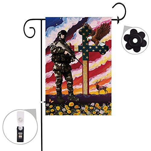 Bonsai Baum Jute Memorial Spring Garden Flaggen 12x 18Prime Doppelseitig Seasonal Yard Outdoor Deko Flagge Banner Stopper & Anti-Wind Clip 12x18 01