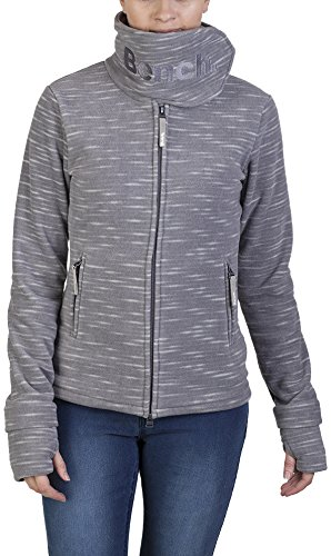 Bench Damen Sweatshirt Fleecejacke Funnelneck K grau (Smoked Pearl) Medium