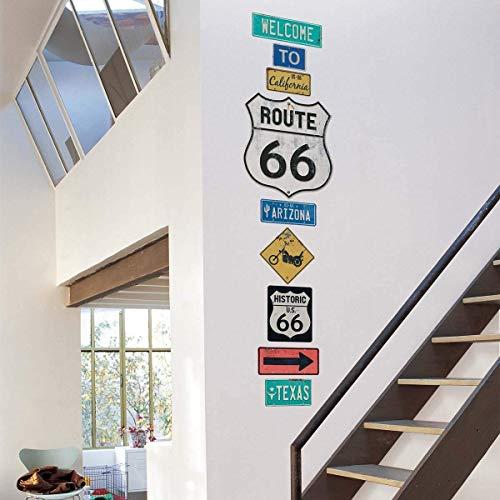 Wandtattoo Route 66 Schild (Google-schild)
