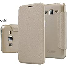 Nillkin sparkle Flip Cover smart view window case for SAMSUNG J2 - GOLD