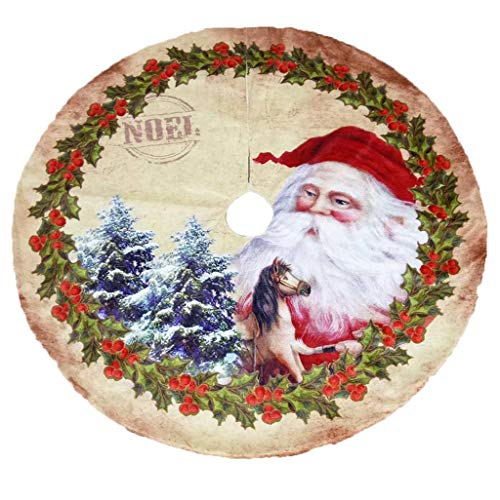 JiaHan 120cm de Navidad no Tejida Falda del árbol con el Modelo de ...