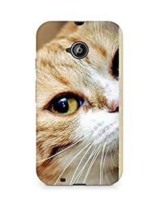 Amez designer printed 3d premium high quality back case cover for Motorola Moto E2 (lomo style abstract cat)
