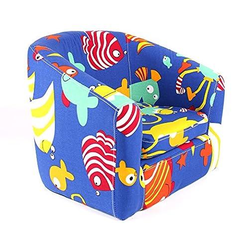 Emall Life Kid's Armchair Children's Tub Chair Cartoon Sofa Wooden Frame (Under the Sea)