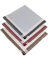 Tobeni 12 Satin Taschentücher für Herren Stoff 100 Baumwolle farbig oder weiss