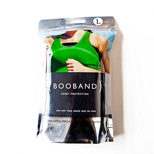Booband fascia seno reggiseno regolabile donna, alternativa al reggiseno sportivo Nero