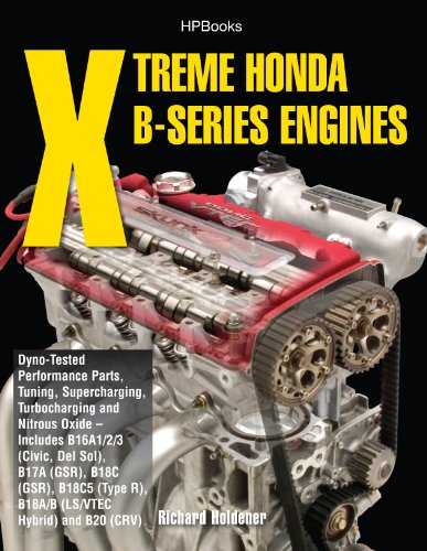 Xtreme Honda B-Series Engines HP1552: Dyno-Tested Performance Parts Combos, Supercharging, Turbocharging and Nitrous Oxide Includes B16A1/2/3 (Civic, Del ... B18C (GSR), B18C5 (TypeR, (English Edition) por Richard Holdener